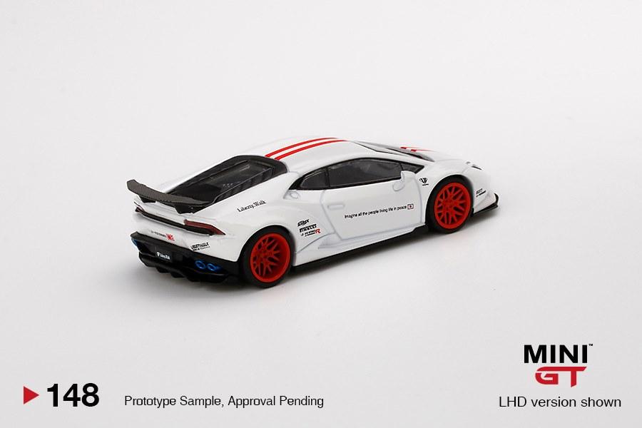 Mini-GT-LB-WORKS-Lamborghini-Huracán-Version-1-White-Red-Stripe-002