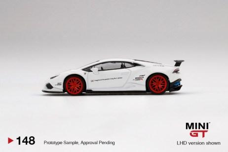 Mini-GT-LB-WORKS-Lamborghini-Huracán-Version-1-White-Red-Stripe-003