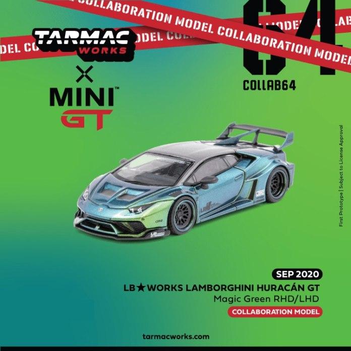 Tarmac-Works-Mini-GT-LB-WORKS-Lamborghini-Huracan-GT-Magic-Green-RHD