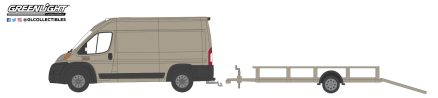 GreenLight-Collectibles-Hitch-and-Tow-21-2019-Ram-Promaster-2500-Cargo-High-Roof-Utility-trailer