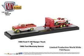 M2-Machines-Auto-Haulers-release-38-1969-Ford-F-100-Ranger-Truck-1966-Ford-Mustang-Gasser-Chase