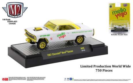 M2-Machines-Coca-Cola-release-1967-Chevrolet-Nova-Gasser-Mellow-Yello-Chase-Car