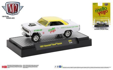 M2-Machines-Coca-Cola-release-1967-Chevrolet-Nova-Gasser-Mellow-Yello