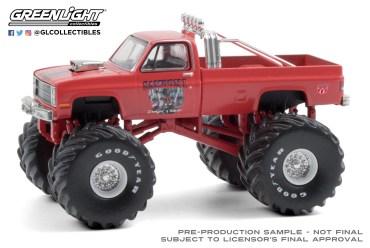 GreenLight-Collectibles-Kings-of-Crunch-Series-8-Samson-I-1984-Chevrolet-Silverado-Monster-Truck