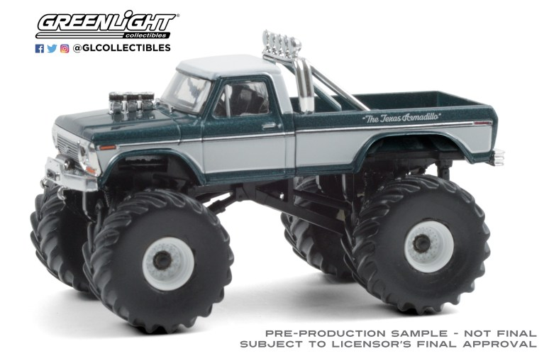 GreenLight-Collectibles-Kings-of-Crunch-Series-8-Texas-Armadillo-1979-Ford-F-250-Monster-Truck