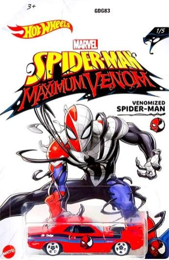 Hot-Wheels-Marvel-Spider-Man-Maximum-Venom-70-Dodge-Hemi-Challenger-Venomized-Spider-Man