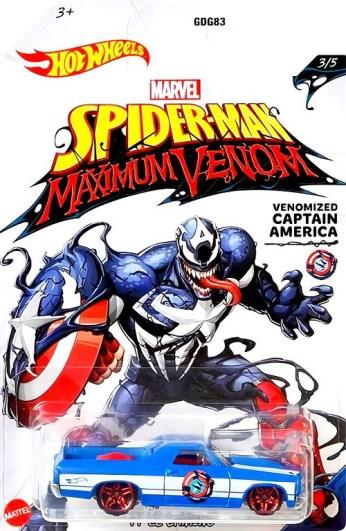 Hot-Wheels-Marvel-Spider-Man-Maximum-Venom-71-El-Camino-Venomized-Captain-America