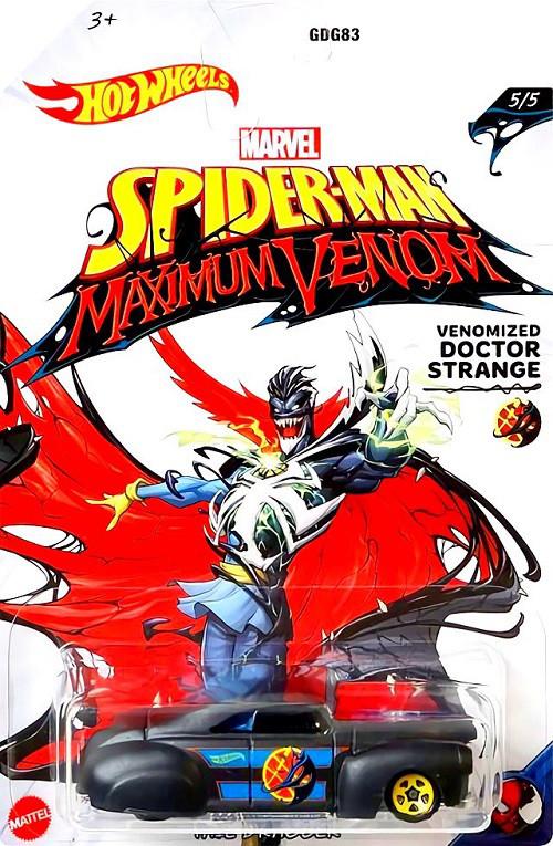 Hot-Wheels-Marvel-Spider-Man-Maximum-Venom-Tail-Dragger-Venomized-Doctor-Strange