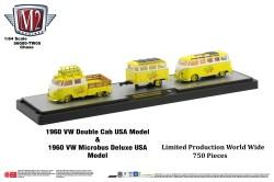 M2-Machines-Coca-Cola-Auto-Haulers-1960-VW-Double-Cab-USA-Model-1960-VW-Microbus-Deluxe-USA-Model-Mello-Yello-Chase