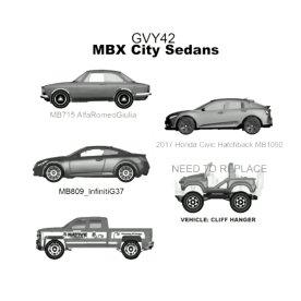 Matchbox-new-2021-5-Packs-MBX-City-Sedans