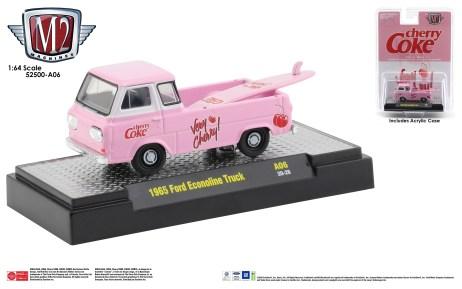 M2-Machines-Coca-Cola-licensed-release-set-A06-1965-Ford-Econoline-Pick-Up-Truck-Cherry-Coke
