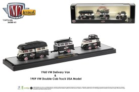 M2-Machines-Auto-Haulers-release-41-1959-Volkswagen-Double-Cab-Camper-1960-Volkswagen-Shorty-Delivery-Van-Maui-and-Sons