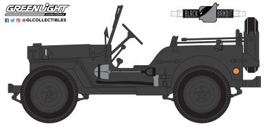 GreenLight-Collectibles-Black-Bandit-Series-25-1942-Willys-MB-Jeep
