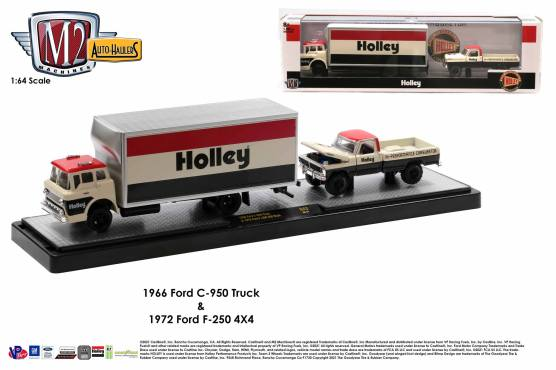 M2-Machines-Auto-Haulers-Series-43-1966-Ford-C-950-Truck-Holley-1972-Ford-F-250-Explorer-4x4