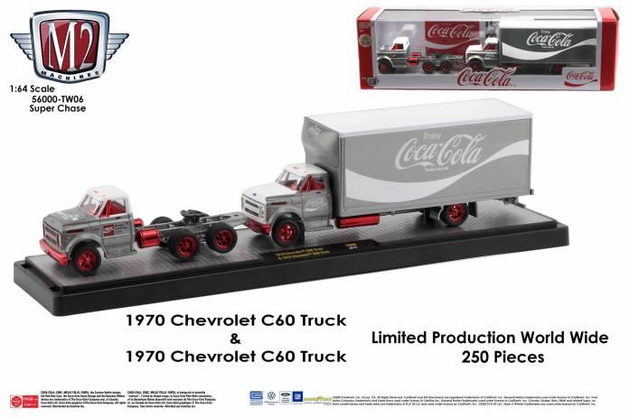 M2-Machines-Coca-Cola-Auto-Haulers-Chevrolet-C-60-Truck-bundle-Super-Chase
