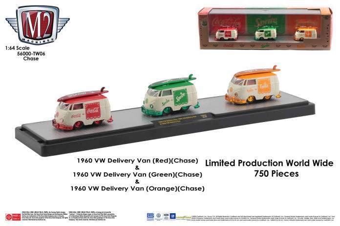 M2-Machines-Coca-Cola-Auto-Haulers-VW-Delivery-Van-bundle-Chase