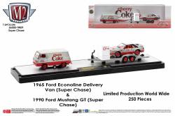 M2-Machines-Coca-Cola-Auto-Haulers-release-CherryCoke-Ford-Econoline-Delivery-Van-Ford-Mustang-GT-Super-Chase