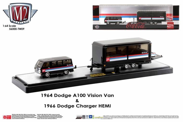 M2-Machines-Coca-Cola-Auto-Haulers-release-Coca-Cola-Dodge-A100-Vision-Van-Dodge-Charger-Hemi
