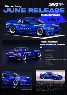 Inno64-Nissan-Silvia-S13-V2-Rocket-Bunny-Pandem-Metallic-Blue-001