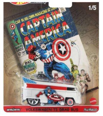 Hot-Wheels-Pop-Culture-2021-Marvel-Volkswagen-T1-Drag-Bus-Captain-America