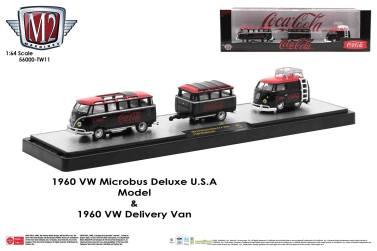 M2-Machines-Coca-Cola-Auto-Haulers-1960-VW-Microbus-Deluxe-USA-Model-1960-VW-Delivery-Van