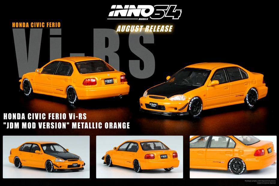 Inno64-Honda-Civic-Ferio-Vi-RS-Metallic-Orange-001