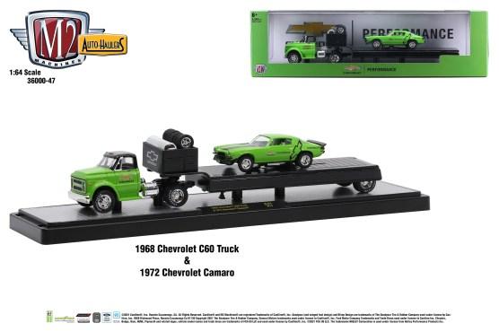 M2-Machines-Auto-Haulers-release-47-1968-Chevrolet-C60-Truck-1972-Chevrolet-Camaro