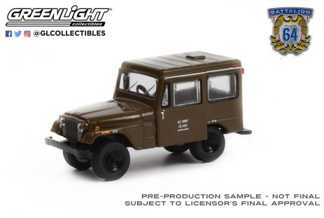 GreenLight-Collectibles-Battalion-64-Series-1-1970-Jeep-DJ-5-US-Army