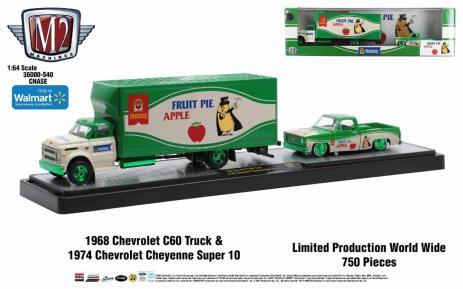 M2-Machines-Auto-Haulers-1968-Chevrolet-C60-Truck-1974-Chevrolet-Cheyenne-Super-10-Chase