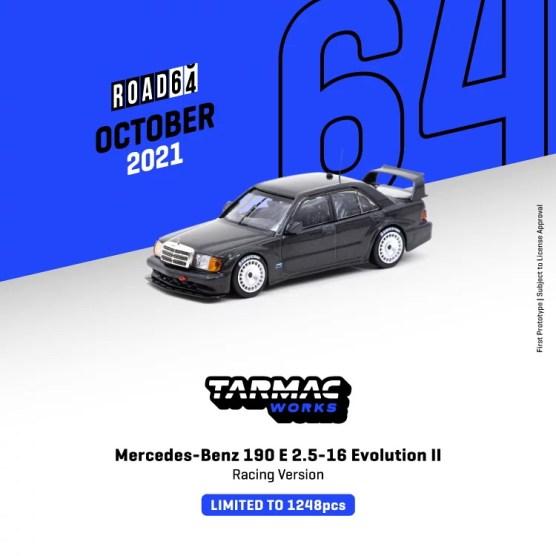 Tarmac-Works-Mercedes-Benz-190E-2-5-16-Evolution-II-Racing-Version-Black-Metallic