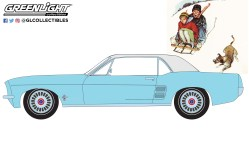 GreenLight-Collectibles-Norman-Rockwell-Series-4-1967-Ford-Mustang-Coupe