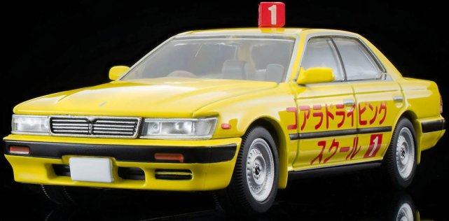Tomica-Limited-Vintage-Neo-Nissan-Laurel-Driving-School-1992-Yellow-005
