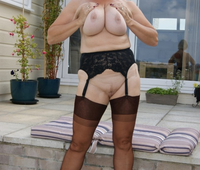 Busty Granny Michelle Drops Her Knickers And Fingers Herself Outside Hot Wife Exhibitionist