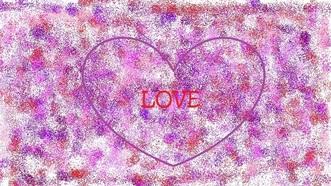 """Heart with """"love"""" written in it"""
