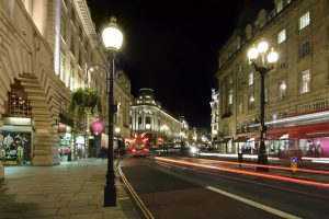 Regent Street is where a huge number of clothing stores and shopping centers are located
