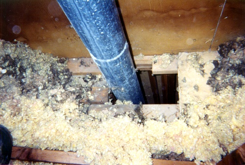 Bypass sealing in the attic solves heat loss and indoor