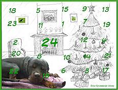 Schwarzer Hund Kalender Gewinnspiel