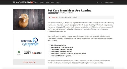 Pet Care Franchises Are Roaring