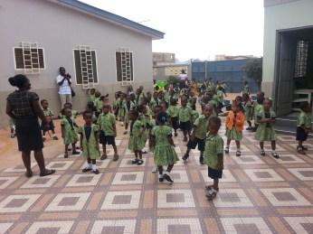 The children gathering