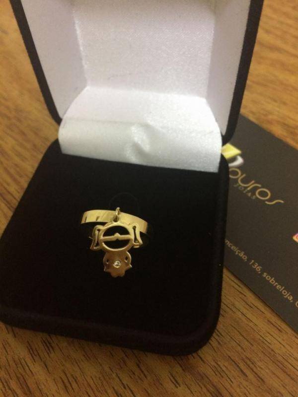 Anel Menina de Ouro 18k 2mm 3 gramas