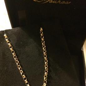 Cordão Elo Português em Ouro 18k 45 cm