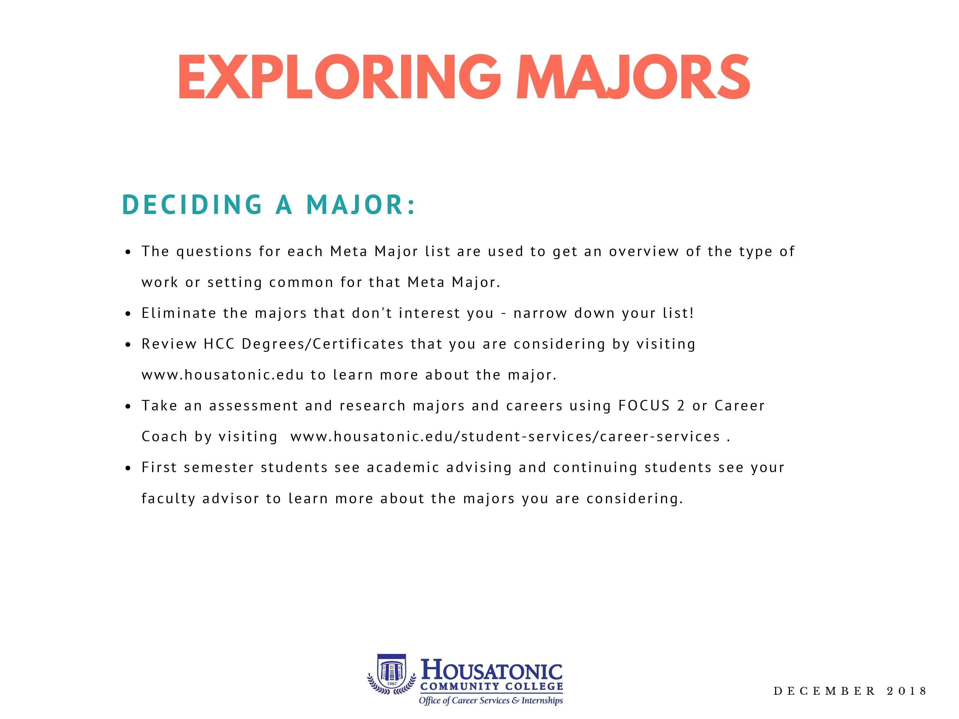 Exploring Meta Majors
