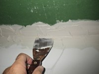 My drywall ceiling repair project - drywall mudding ...