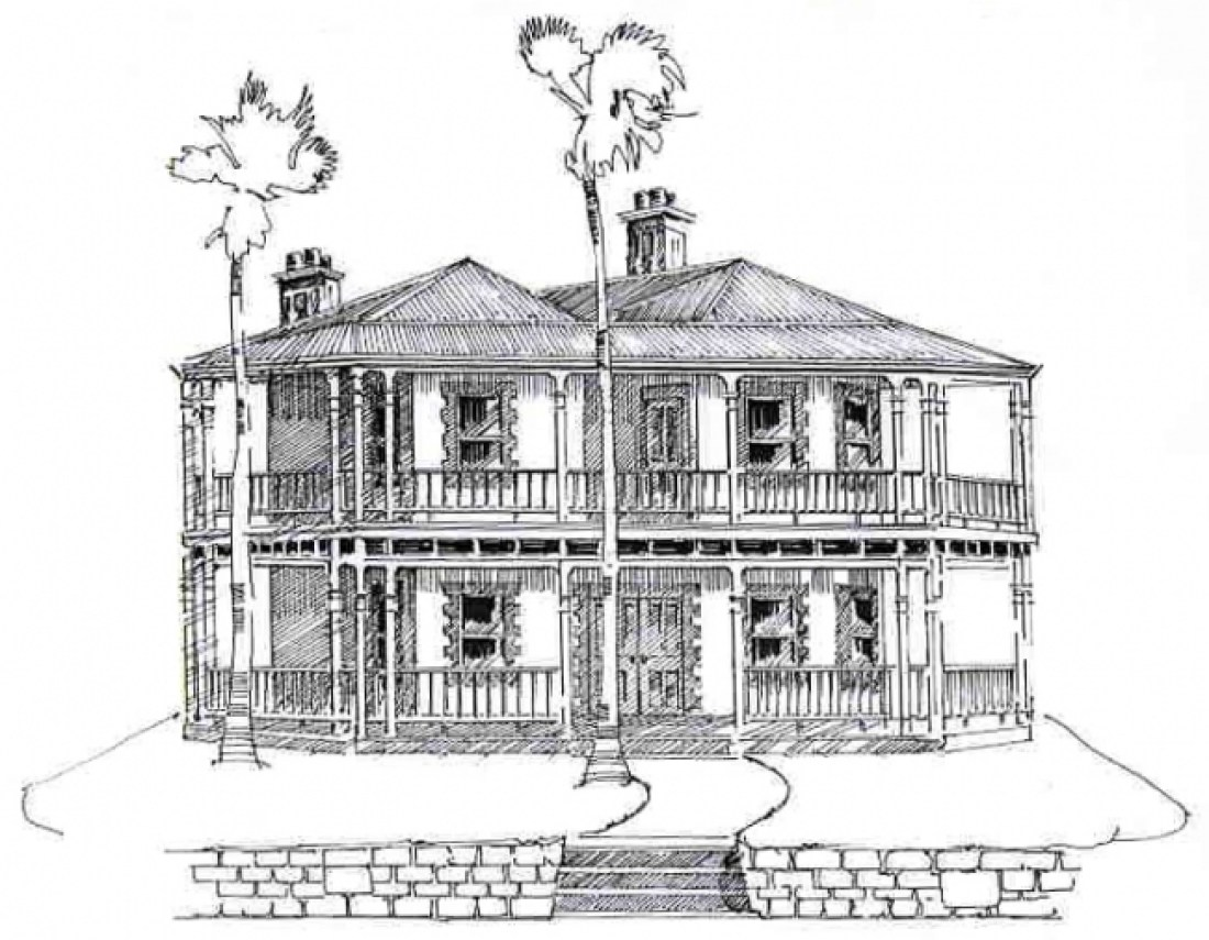 ABOVE: The newspaper drawing of the house as it was advertised.