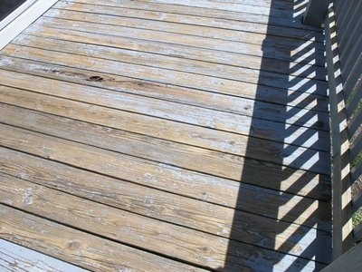 Refinishing my very rough pressure treated wood deck