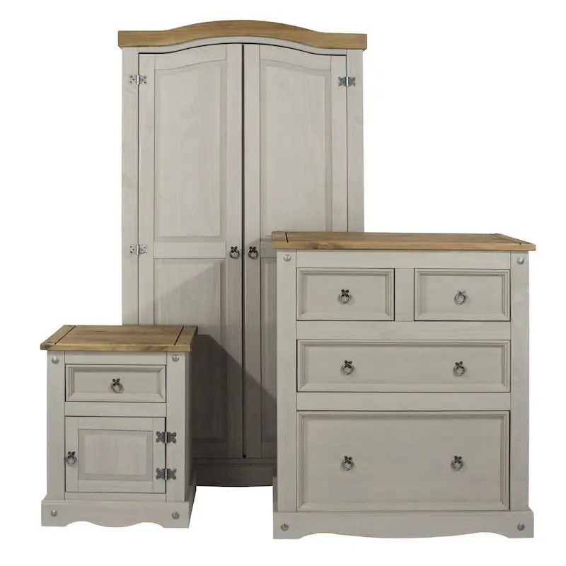 Corona Grey Bedroom Set  Free delivery  Best Price Promise