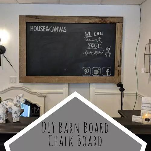 diy barn board chalk