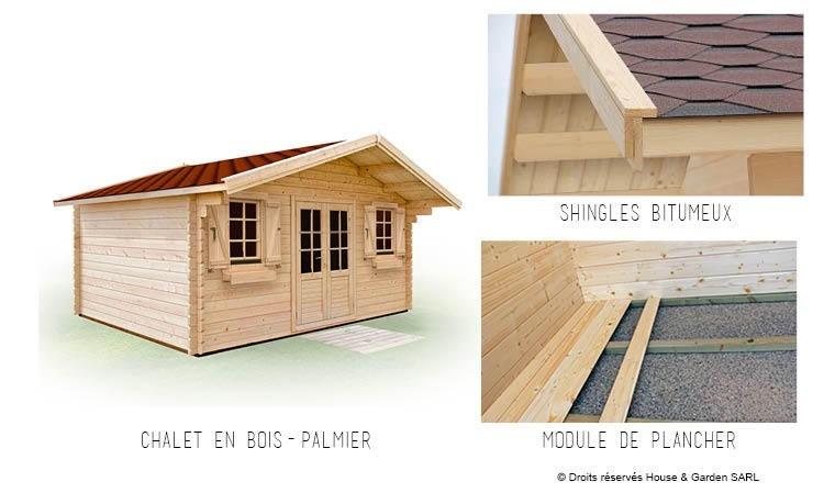 abri de jardin avec plancher toiture 14m2 palmier 14