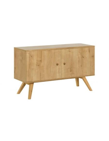 meuble de rangement scandinave couleur chene et blanc nature
