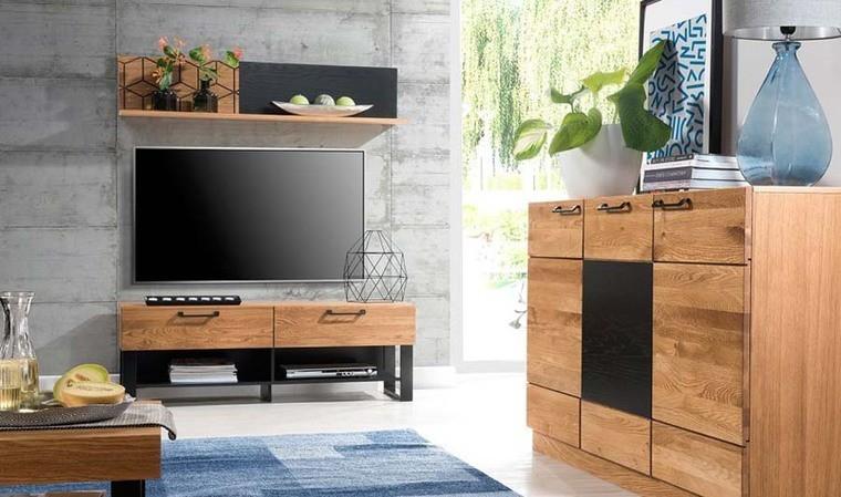meuble tv chene miel tika